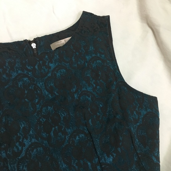 Forever21 Emerald Blue Lace A-Line Dress